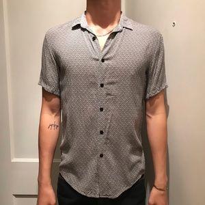 TOPMAN viscose pattern short sleeve shirt